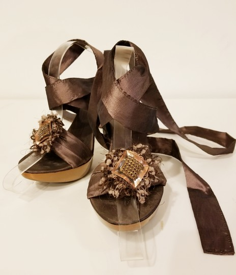 Bluzi Made In Italy Embellished Bronze Copper Sandals Image 3