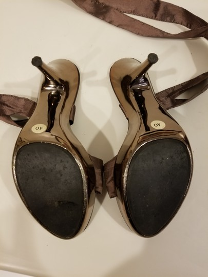Bluzi Made In Italy Embellished Bronze Copper Sandals Image 5