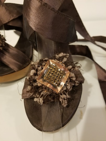 Bluzi Made In Italy Embellished Bronze Copper Sandals Image 6