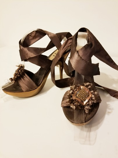 Bluzi Made In Italy Embellished Bronze Copper Sandals Image 7