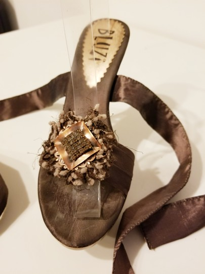 Bluzi Made In Italy Embellished Bronze Copper Sandals Image 9