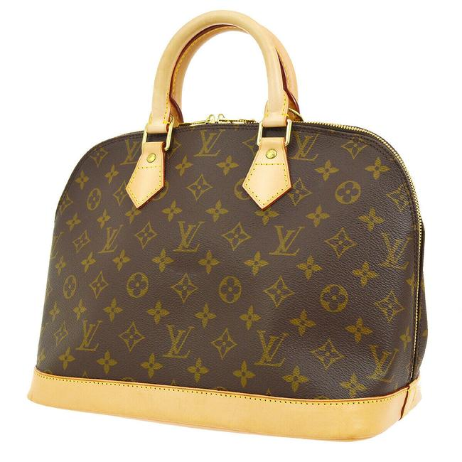 Louis Vuitton Alma Like New Mm Monogram Brown Canvas Satchel Louis Vuitton Alma Like New Mm Monogram Brown Canvas Satchel Image 1