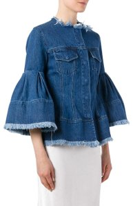 MARQUES'ALMEIDA Frayed Bell Sleeve Womens Jean Jacket
