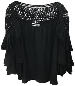 3.1 Phillip Lim Silk Spring Fall Evening Night Out Top BLACK