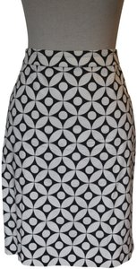 J.Crew Pencil Pattern Skirt Black and White Graphic