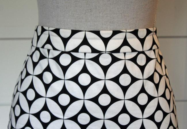 J.Crew Pencil Pattern Skirt Black and White Graphic Image 1