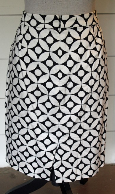 J.Crew Pencil Pattern Skirt Black and White Graphic Image 2