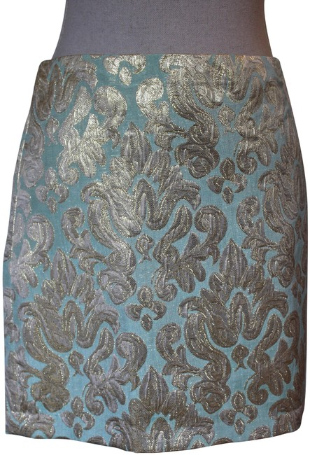 Preload https://img-static.tradesy.com/item/23126137/jcrew-aqua-and-gold-brocade-party-miniskirt-size-8-m-29-30-0-1-650-650.jpg