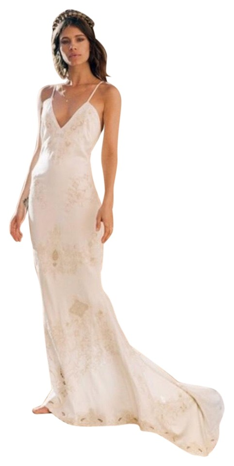 Spell & the Gypsy Collective White Cream Bride Silk Slip Gown Long ...