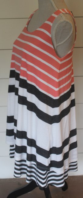 Anthropologie short dress pink, grey and white stripe on Tradesy Image 1