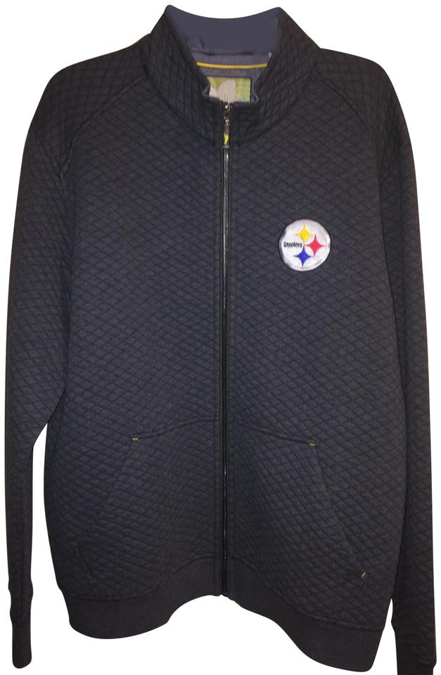 buy popular 06b0f 41b7f Tommy Bahama Gray Men's Football Pittsburgh Steelers Quilt Zip Up  Sweatshirt Jacket Size 16 (XL, Plus 0x) 65% off retail