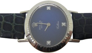 Rolex Ladies Rolex Cellini Manual Winding Blue Dial Watch