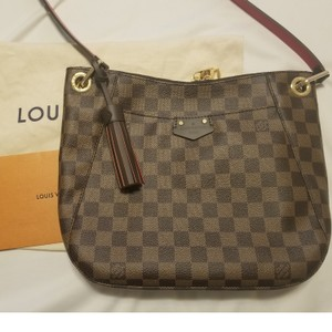 91550bf15036 Louis Vuitton South Bank Besace New In Box Damier Ebene Leather and ...