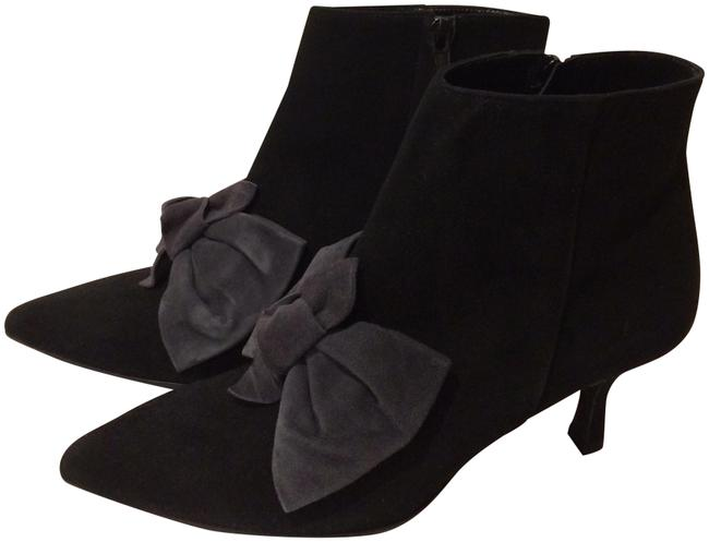 Item - Black New Bow Front Kitten Heel Suede Ankle Boots/Booties Size EU 37.5 (Approx. US 7.5) Regular (M, B)