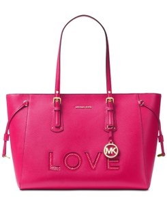 MICHAEL Michael Kors Voyager Multifunction Top-zip Laptop Compatible Tote in Ultra Pink