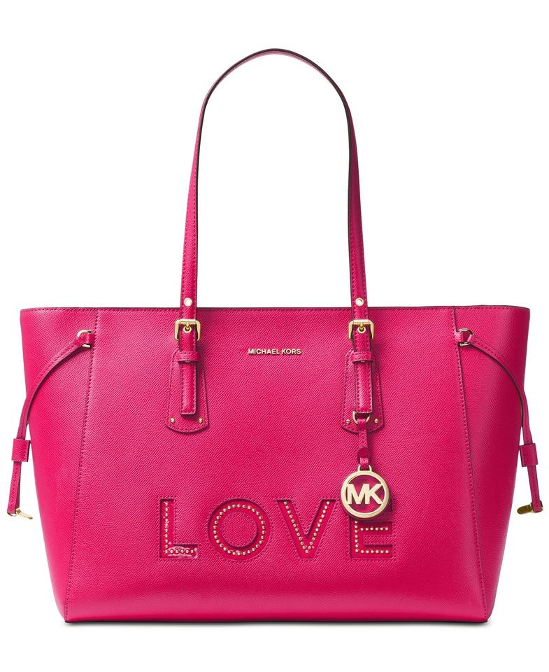 bfdb4bc0e8a1 MICHAEL Michael Kors Voyager Multi-function Top-zip Ultra Pink Leather Tote
