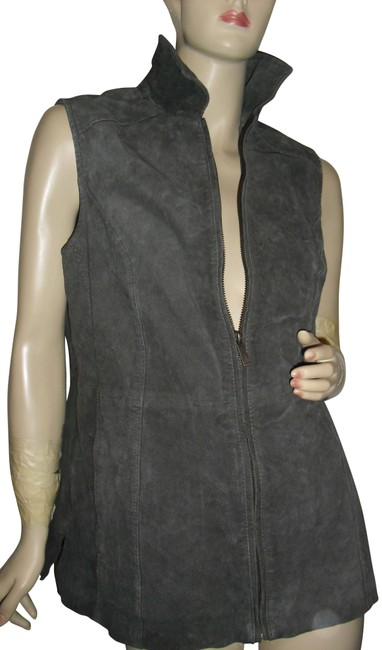 Preload https://img-static.tradesy.com/item/23126624/dennis-basso-gray-genuine-leather-suede-zipfront-db-initials-vest-size-10-m-0-1-650-650.jpg