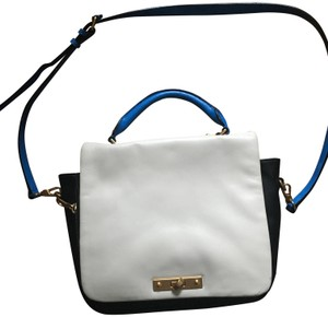 Marc by Marc Jacobs Gold Hardware Satchel in White and blue