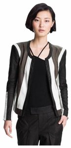 Helmut Lang Colorblock Leather Jacket