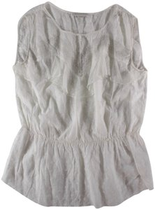 Sandro Embroidered Lace Top White