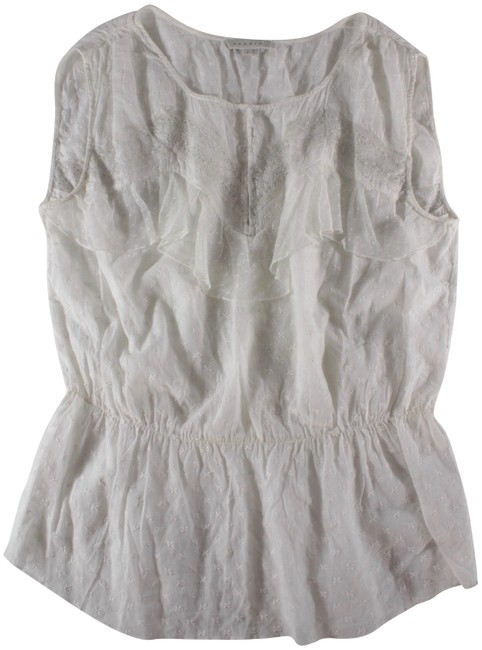 Preload https://img-static.tradesy.com/item/23126690/sandro-white-sleeveless-embroidered-lace-blouse-size-6-s-0-1-650-650.jpg