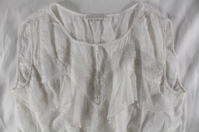 Sandro Embroidered Lace Top White Image 1