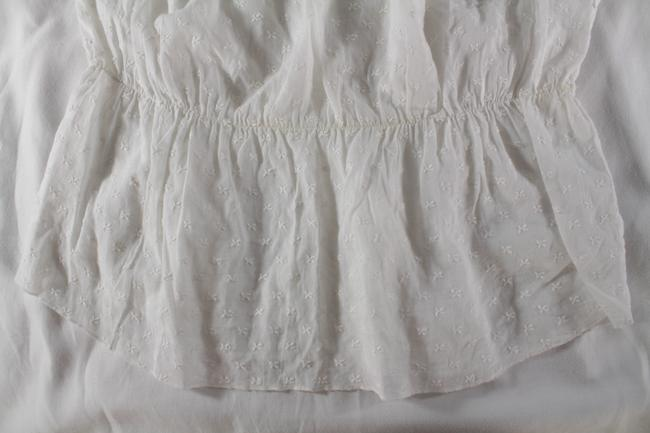 Sandro Embroidered Lace Top White Image 2