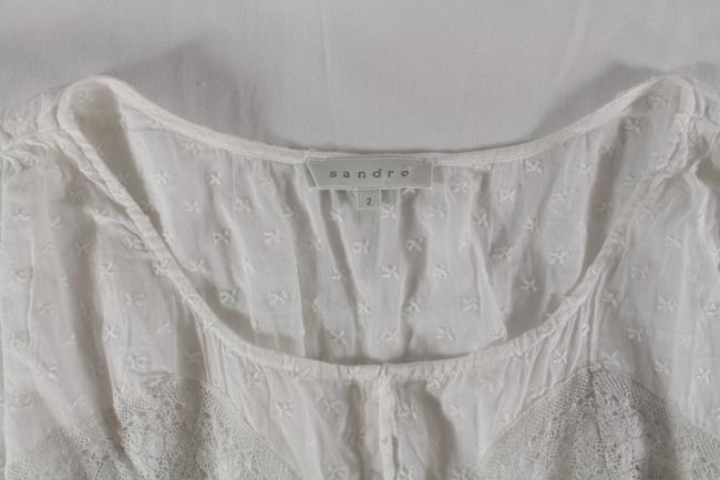 Sandro Embroidered Lace Top White Image 3