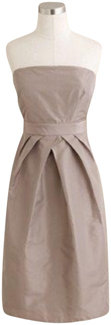 Preload https://img-static.tradesy.com/item/23126762/jcrew-taupe-flawn-kayla-mid-length-cocktail-dress-size-8-m-0-1-650-650.jpg