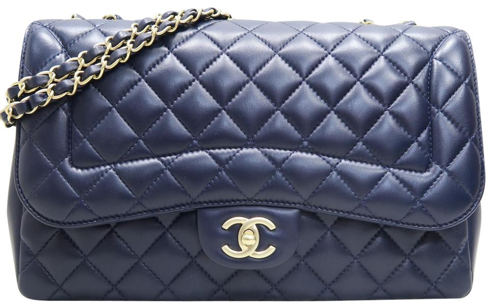 690e67ba2669 Chanel Classic Flap Diana 2015 Quilted Nightblue Lambskin Leather Shoulder  Bag