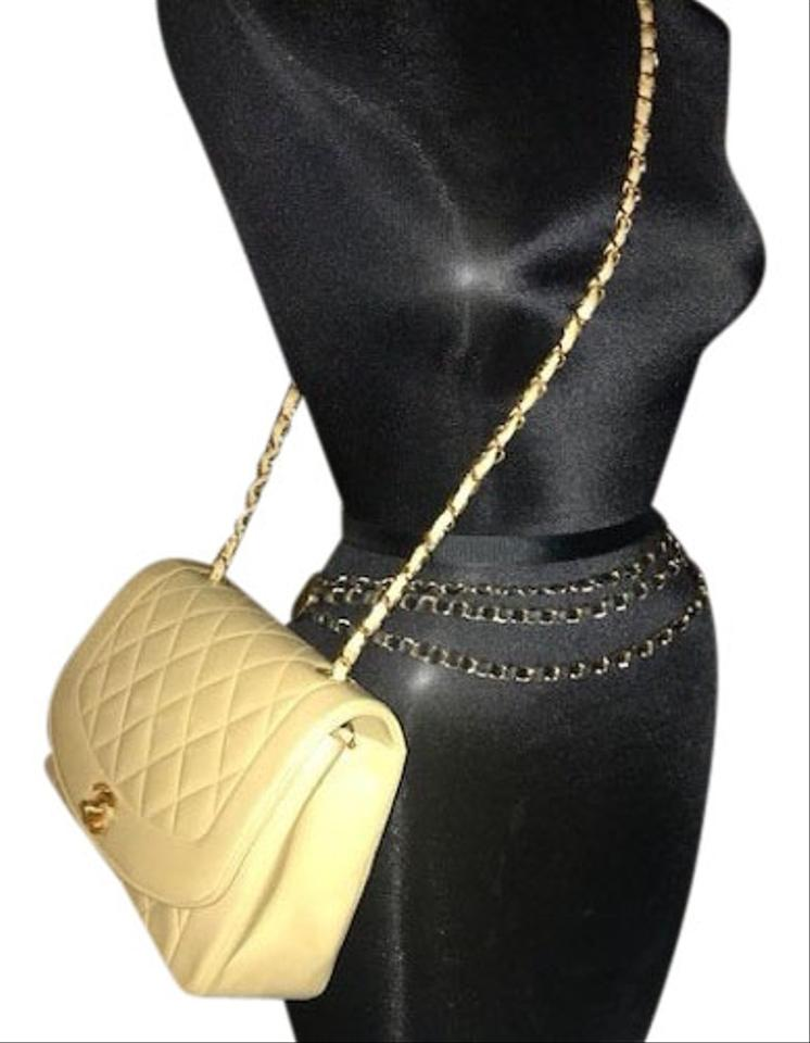 """117862f5353e Chanel Diana Classic Medium Quilted """"diana"""" Single Flap Beige ..."""