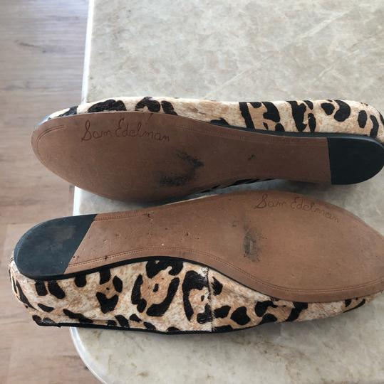 Sam Edelman Tan animal print, silver toe Flats Image 2
