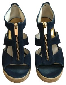 MICHAEL Michael Kors Navy Wedges