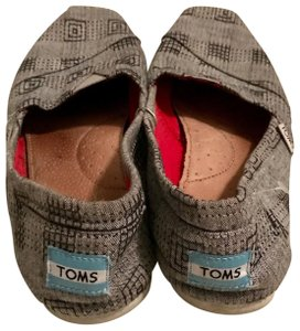 TOMS Loafers Comfort Footwear GRAY Flats
