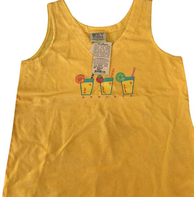 Item - Yellow with Accents Tee Shirt Size 6 (S)
