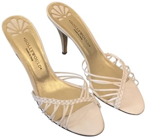 Hollywould Summer Leather Strappy White Sandals