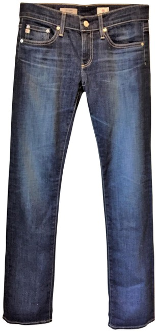 Item - Blue Dark Rinse The Tomboy Relaxed Straight Boyfriend Cut Jeans Size 26 (2, XS)