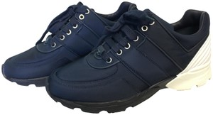 Chanel Sneakers Trainers Trainer 39 Navy and White Athletic