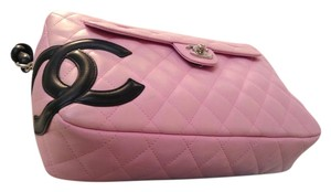 Chanel Logo Leather Quilted Shoulder Bag