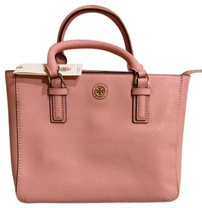 Tory Burch Mini Leather Satchel in pink/cherry blossom