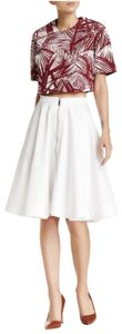 Elizabeth and James Spring Night Out Comfortable A-line Pleated Skirt White