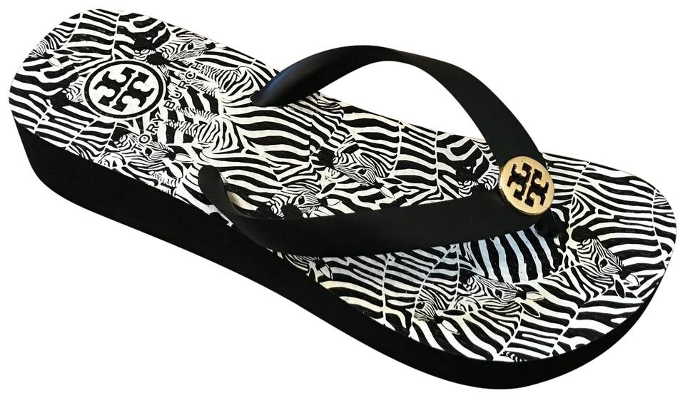 ca7aa580879e6 Tory Burch Black and White Sandals Size US 6 Regular (M
