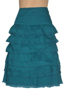 Anthropologie Tiered Skirt TEAL