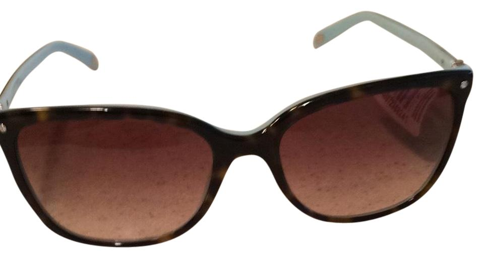d316625d8d Tiffany   Co. Brown Light Blue With Rhinestone Sunglasses - Tradesy