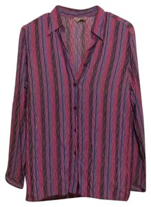 Missoni Button Down Shirt Pink and Purple