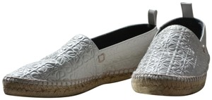 Loewe Designer Espadrilles Holiday Leather Timeless white Flats