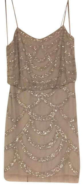 Item - Silver Sparkly Short Night Out Dress Size 4 (S)