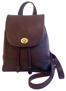 Coach Leather Daypack Backpack