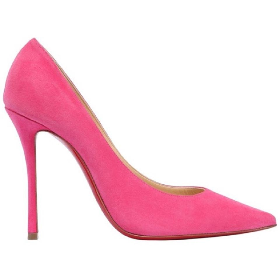 ba25b4eab202 Christian Louboutin 100mm Decoltish Decoltish Bright Pink Pumps Image 0 ...