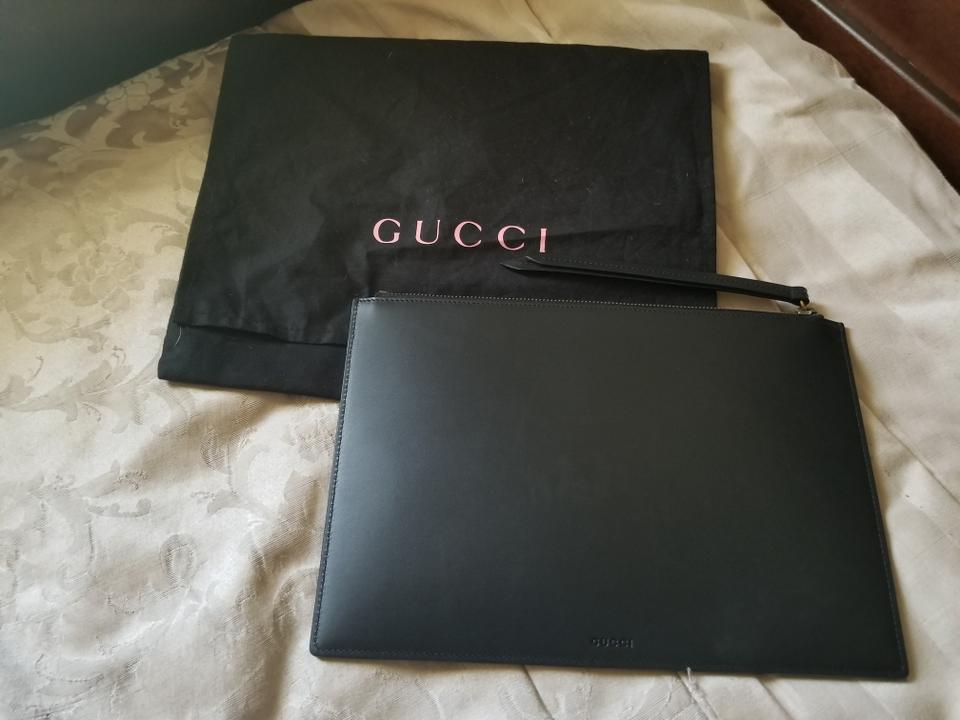 fa53ee012 Gucci Style: # 445597 Life Is Black Leather Clutch - Tradesy